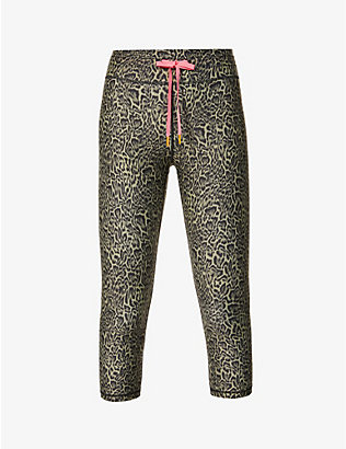 THE UPSIDE: NYC leopard-print cropped high-rise stretch-woven leggings