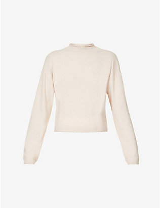 THE UPSIDE: Igor high-neck stretch-knit jumper