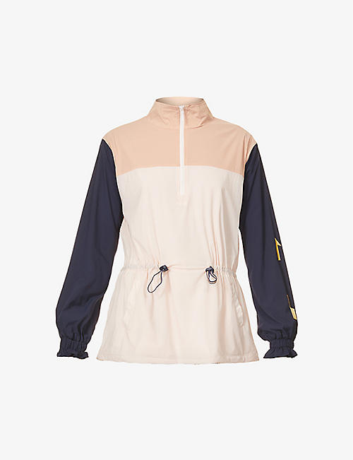 THE UPSIDE: Yoko colour-blocked stretch-woven jacket