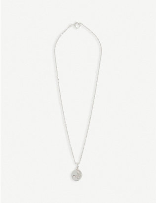 ALAN CROCETTI: Hybrid rhodium-plated vermeil silver necklace
