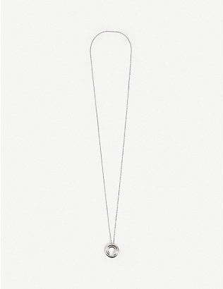 ALAN CROCETTI: Loophole rhodium-plated sterling silver vermeil necklace