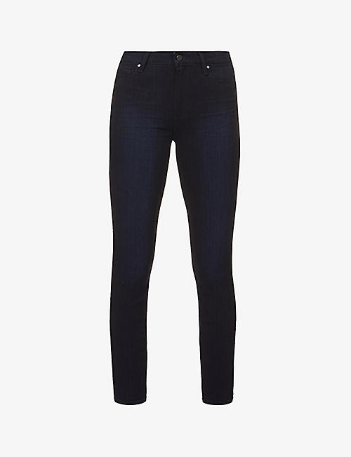 PAIGE: Muse slim-fit high-rise stretch-denim jeans