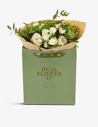 THE REAL FLOWER COMPANY:Cream and Ivory Pick of the Day 花束