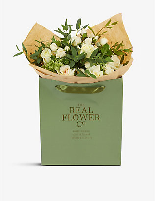 THE REAL FLOWER COMPANY: Cream and Ivory Pick of the Day small bouquet