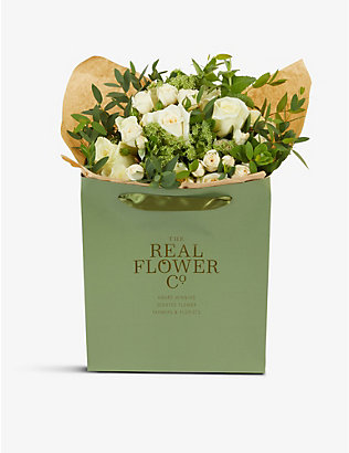 THE REAL FLOWER COMPANY:Cream and Ivory Pick of the Day 中号花束