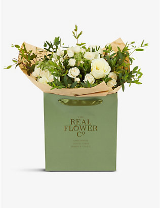 THE REAL FLOWER COMPANY:Cream and Ivory Pick of the Day 大号花束