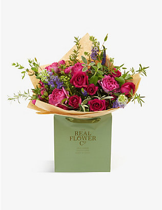 THE REAL FLOWER COMPANY:Hot Pink Pick of the Day 中号花束