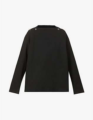 THE SOLOIST: Square-neck relaxed-fit cotton-jersey sweatshirt