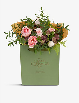 THE REAL FLOWER COMPANY: Pastel Pink Pick of the Day extra-small bouquet