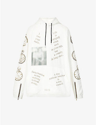 THE SOLOIST: Graphic-print oversized cotton-jersey hoody