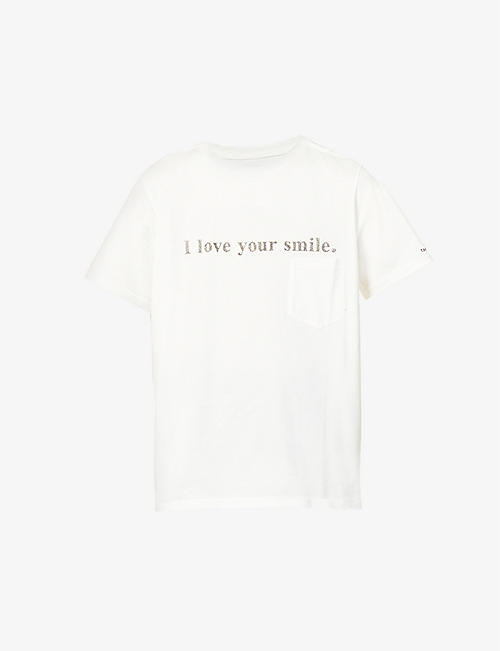 THE SOLOIST: I Love Your Smile text-print cotton-jersey T-shirt