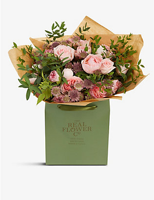 THE REAL FLOWER COMPANY:Pastel Pink Pick of the Day 大号花束