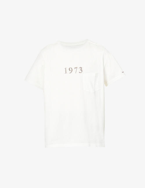 THE SOLOIST: 1973 text-print cotton-jersey T-shirt