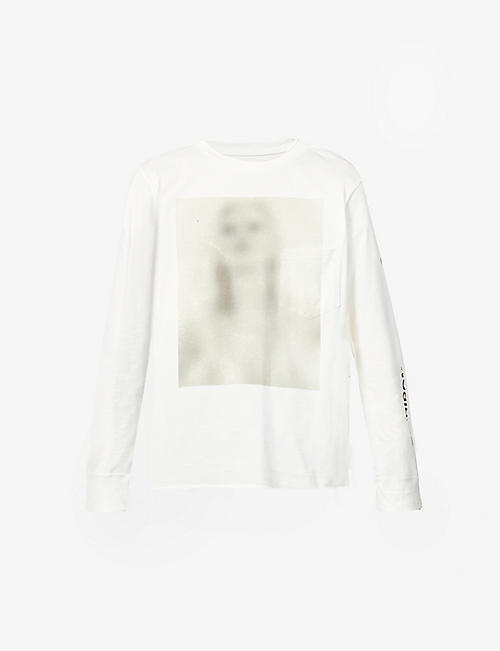 THE SOLOIST: Untilted Woman graphic-print cotton-jersey top