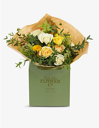 THE REAL FLOWER COMPANY: Yellow and Ivory Pick of the Day small bouquet