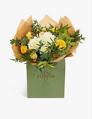THE REAL FLOWER COMPANY: Yellow and Ivory Pick of the Day large bouquet