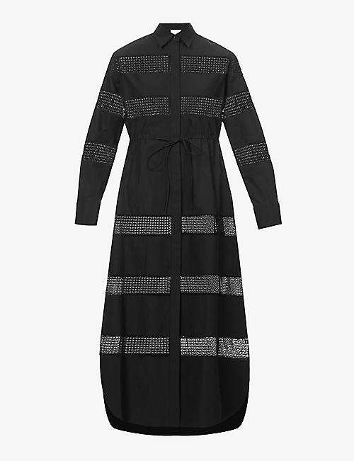 AZZEDINE ALAIA: Edition 2015 The Lace cotton maxi dress