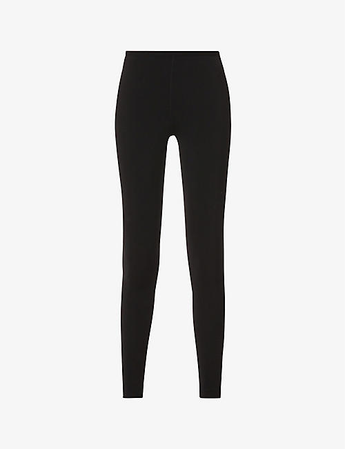 AZZEDINE ALAIA: Skinny high-waist stretch-jersey leggings