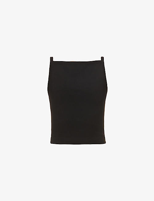 AZZEDINE ALAIA: Square-neck stretch-woven top