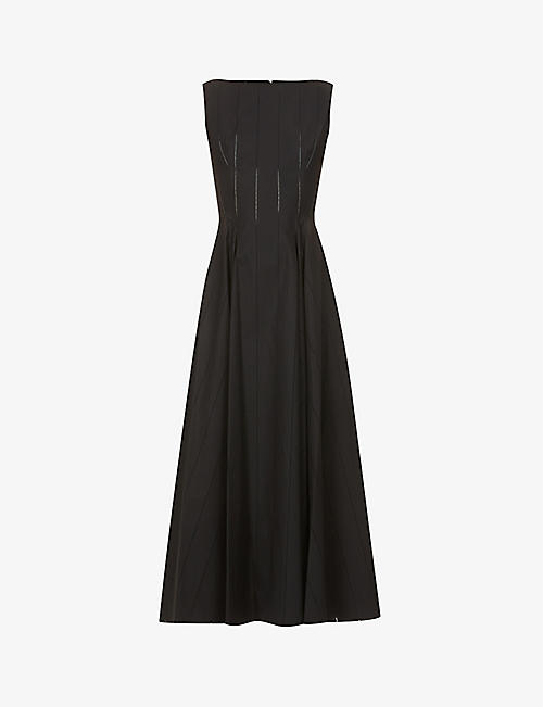AZZEDINE ALAIA: Pop sleeveless cotton midi dress