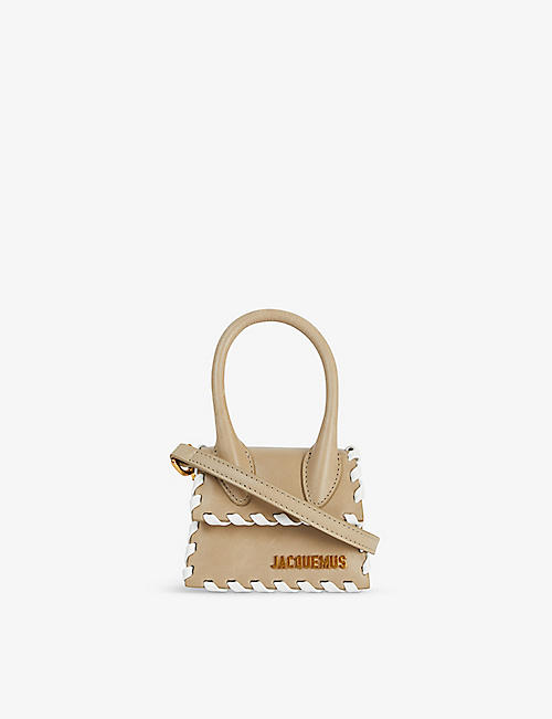 JACQUEMUS: Le Chiquito whipstitch leather top handle bag
