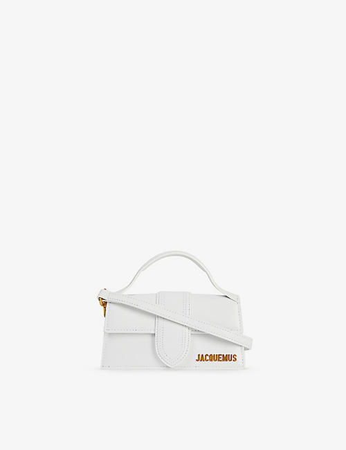 JACQUEMUS: Le Bambino leather top handle bag