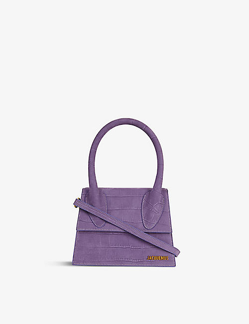 JACQUEMUS: Le Grand Chiquito crocodile-embossed leather top handle bag
