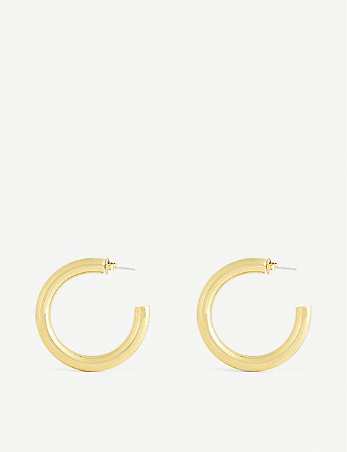 OMA THE LABEL: Bente 18ct gold-plated hoop earrings