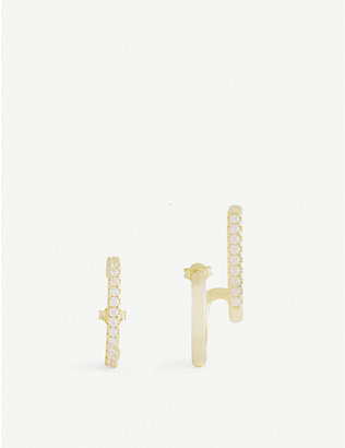 OMA THE LABEL: Lydia 18ct gold-plated earring set