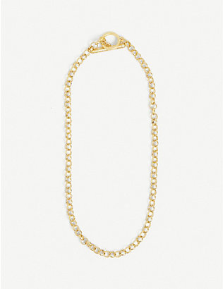 OMA THE LABEL: Lovelyn 18ct gold-plated necklace