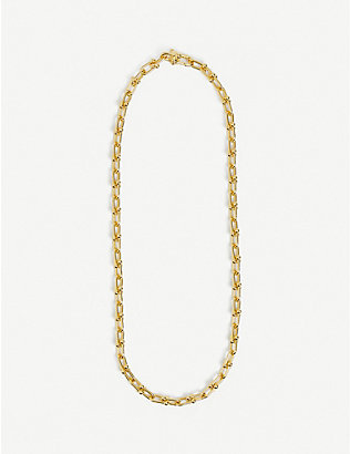 OMA THE LABEL: Vicky cable-chain 18ct gold-plated necklace