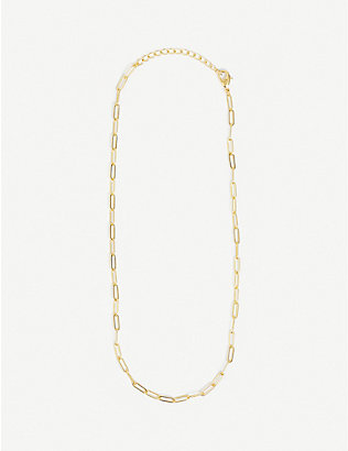 OMA THE LABEL: Filipa 18ct gold-plated necklace