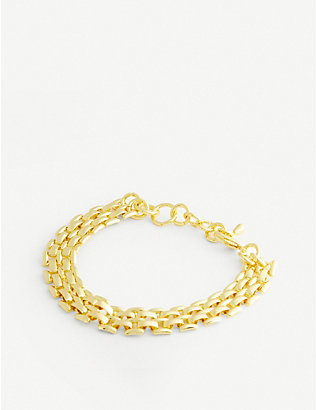 OMA THE LABEL: Patricia 18ct gold-plated bracelet