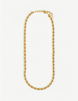 OMA THE LABEL: Caroline 18ct gold-plated necklace