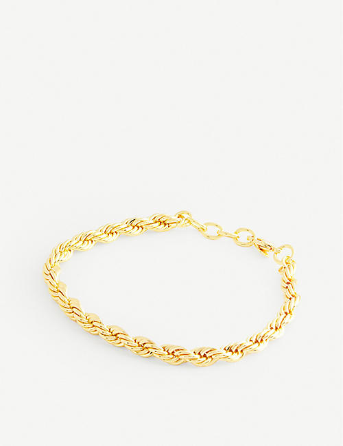 OMA THE LABEL: Keylin 18ct gold-plated bracelet