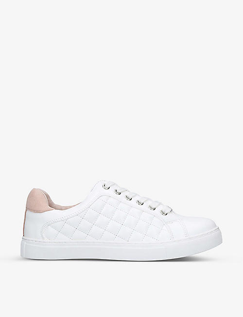 CARVELA: Jilted quilted faux-leather trainers