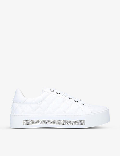 CARVELA: Jeo diamante-detail quilted trainers