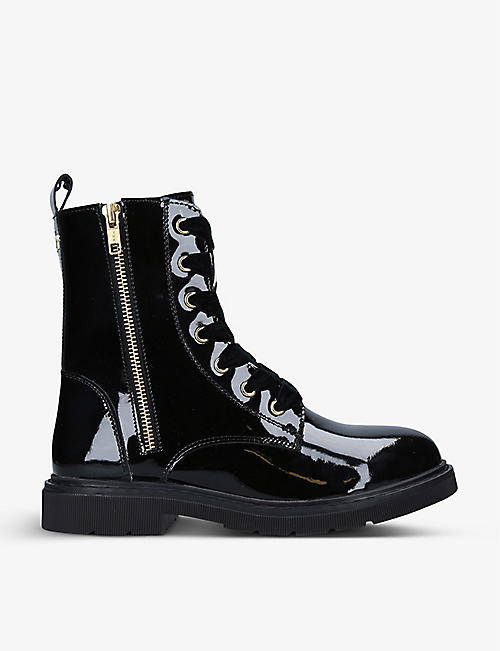 CARVELA: Strategy 2 patent faux-leather boots