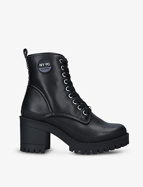 STEVE MADDEN: Berserk leather heeled boots
