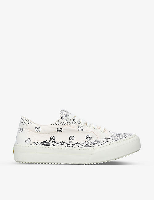 AYAME: V2 bandana-print canvas low-top trainers