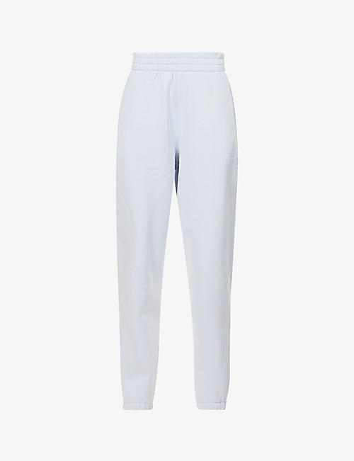 ALEXANDER WANG: Logo-embossed cotton-blend jersey jogging bottoms