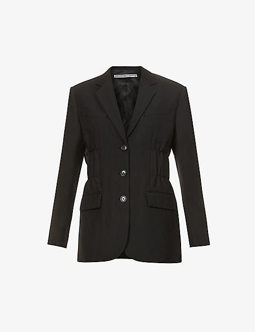 ALEXANDER WANG: Single-breasted cinched wool-blend twill blazer