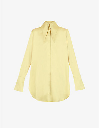 16 ARLINGTON: Seymour oversized satin shirt
