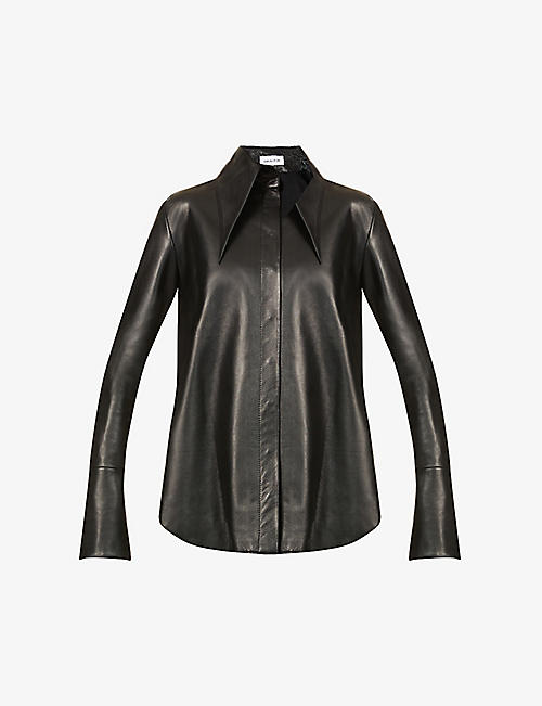 16 ARLINGTON: Seymour oversized leather shirt