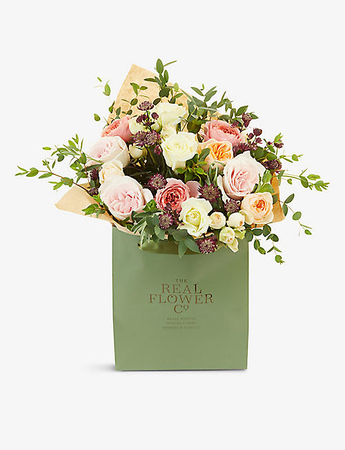 THE REAL FLOWER COMPANY: Romantic Juliet medium scented bouquet