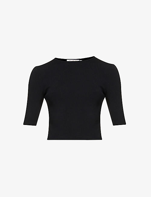 BEC & BRIDGE: Eden ribbed stretch-jersey T-shirt