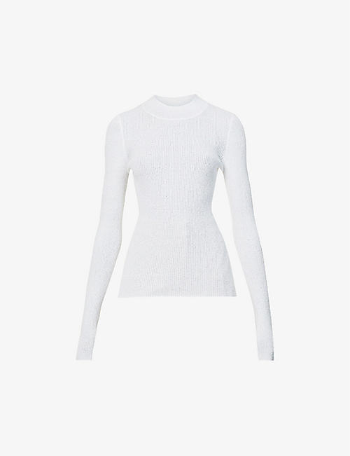 BEC & BRIDGE: Mabel high-neck woven top
