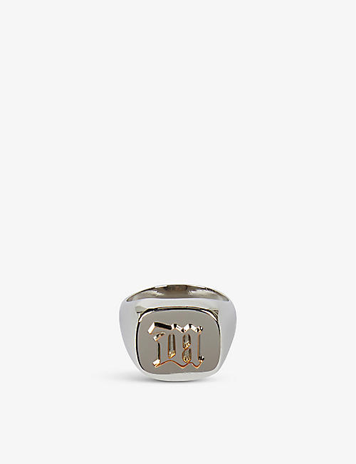 MISBHV: Embossed sterling silver-plated signet ring