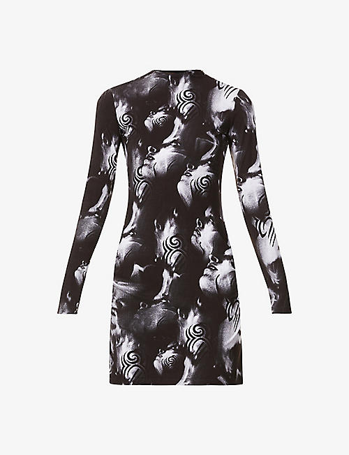 MISBHV: Manga abstract-print stretch-jersey mini dress