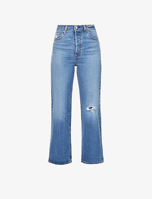 LEVIS: Ribcage straight high-rise jeans